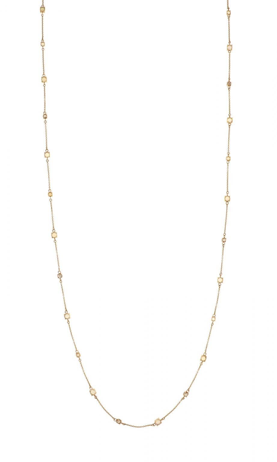 pink gold necklace with brown diamonds