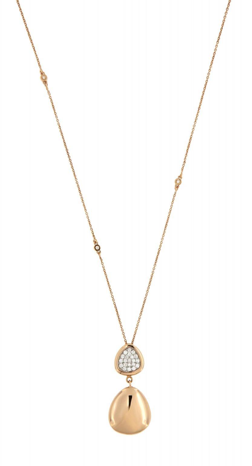 pink gold pendant